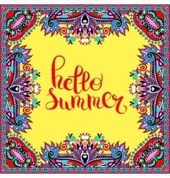 hello summer hand written lettering inscription on vector image