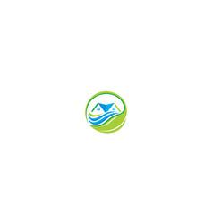 home greening icon logo vector image