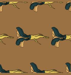horseradish coloured warm pattern vector image