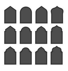 Islamic windows and door collection vector