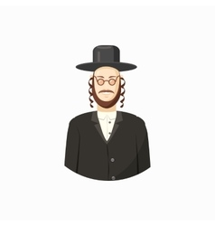 Jew man icon cartoon style vector