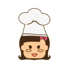 kid with chef hat vector image