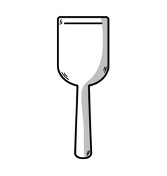 Line spatula kitchen utensil that used to cook vector