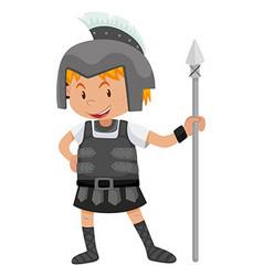 Little boy in knight costume vector