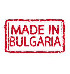 Made in bulgaria stamp text vector