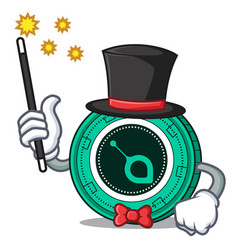 Magician siacoin mascot cartoon style vector