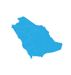 map of saudi arabia high detailed map - saudi vector image