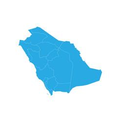 map of saudi arabia high detailed map - saudi vector image