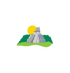 maya pyramid andtemple kukulkan design vector image