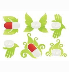 medical symbols vector image vector image