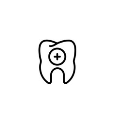 medical treatment theraphy dental tooth icon in vector image