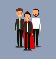 Mens teamwork design vector