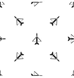 military aircraft pattern seamless black vector image