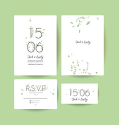 Modern wedding collection vector