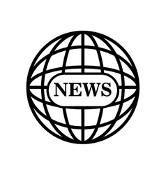 News globe connection world graphic isolated vector