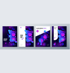 organic brochure layout design bright fluid color vector image