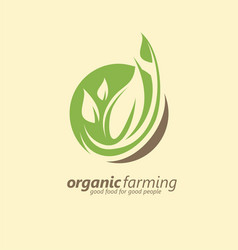 organic farm logo design idea vector image