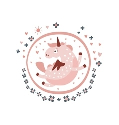 Pegasus Fairy Tale Character Girly Sticker In vector
