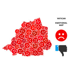 Pitiful vatican map composition of sad vector
