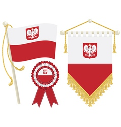 Poland flags vector