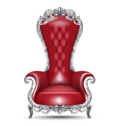 Red baroque glamourous armchair isolated on white vector