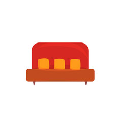 red sofa or couch with pillows living room or vector image vector image