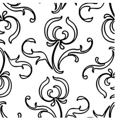 seamless background outlines stylized vector image