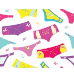 Seamless pattern with colourful cute panties vector