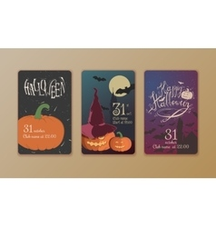 Set of Halloween posters vector image
