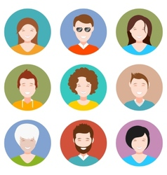 set people avatar in style flat design vector image