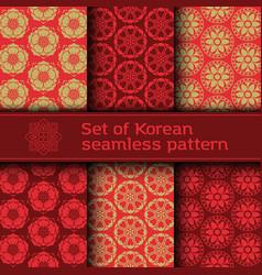 set seamless korean pattern vector image