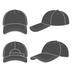 Set with a baseball cap vector