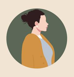 simple female portrait vector image