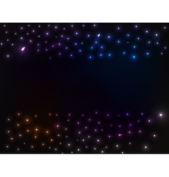 Space background colorful stars vector