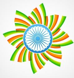 Stylish indian flag vector