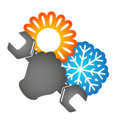 Symbol of air conditioning repair vector