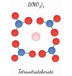 Tetranitratoborate BN4O12 molecule vector image