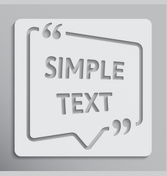 The speech bubble quote blank template vector