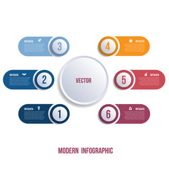 visualization of business presentations by modern vector image