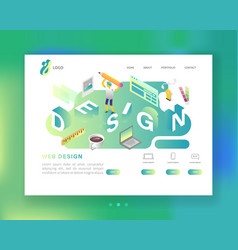 website development web design landing page vector image