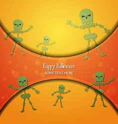With halloween and skelet vector