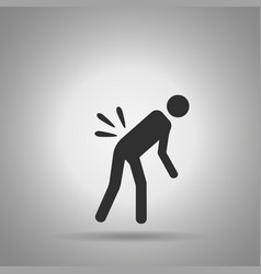 backache icon the person with back pain vector image vector image