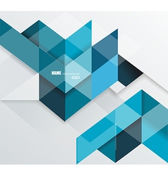 Blue geometrical abstract lines structure vector image vector image