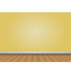 Empty room with wood floor and pattern wall vector image