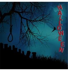 Hallooween background with hangman noose text and vector