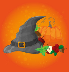 halloween poster banner or background vector image vector image