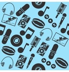 Karaoke collage pattern vector image vector image