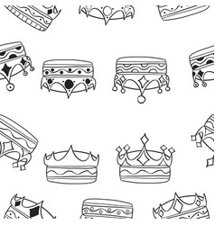various crown pattern style collection vector image vector image