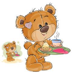 a loving brown teddy bear vector image vector image