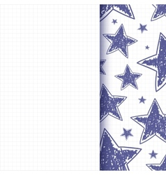 Abstract background with hand drawn stars vector image vector image